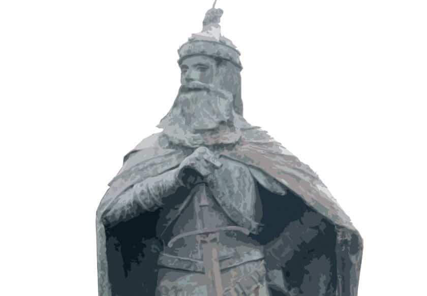 """La statue de Skanderbeg à """"Skarbek"""""""