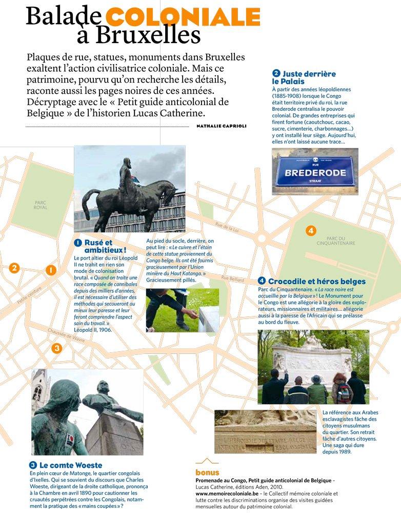 carte des monuments coloniaux à Bruxelles