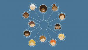 visages reliés représentant les réseaux du CIRÉ