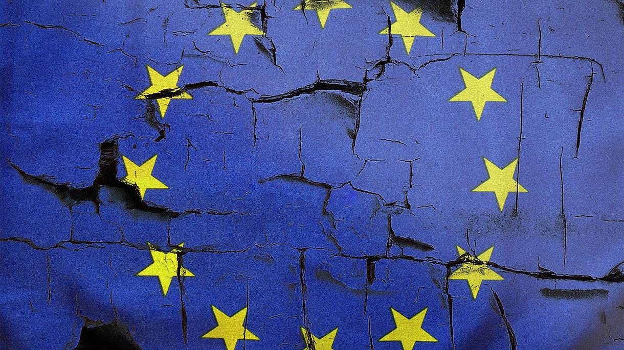 drapeau fractiré de l'union européenne